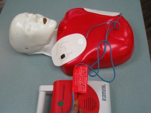 CPR Training Manikin and AED