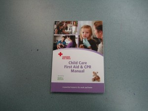 Red Cross Childcare First Aid Book