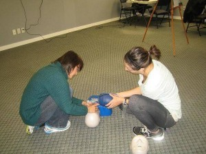 "Learn effective two-person CPR rescue techniques for adult, child and infant victims by taking CPR level ""C"" and AED training."