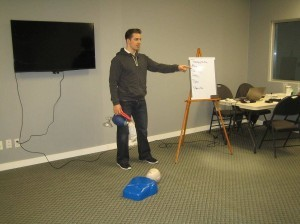 Taking a first aid instructor course